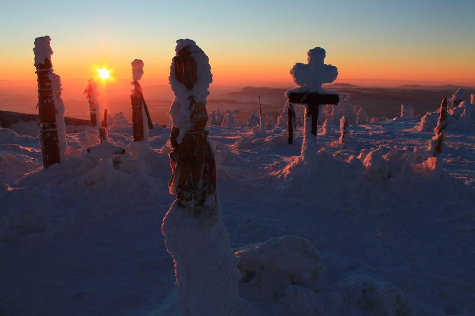 Naplemente a székelység szent hegyén