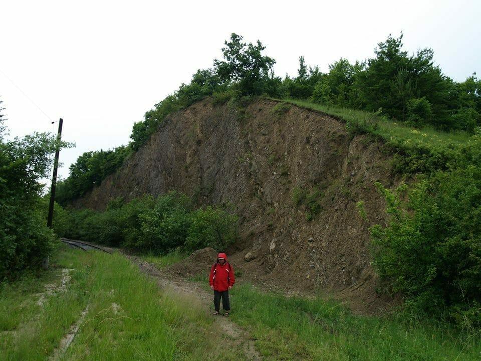 A nekézsenyi vasúti bevágás, mint földtani kuriózum
