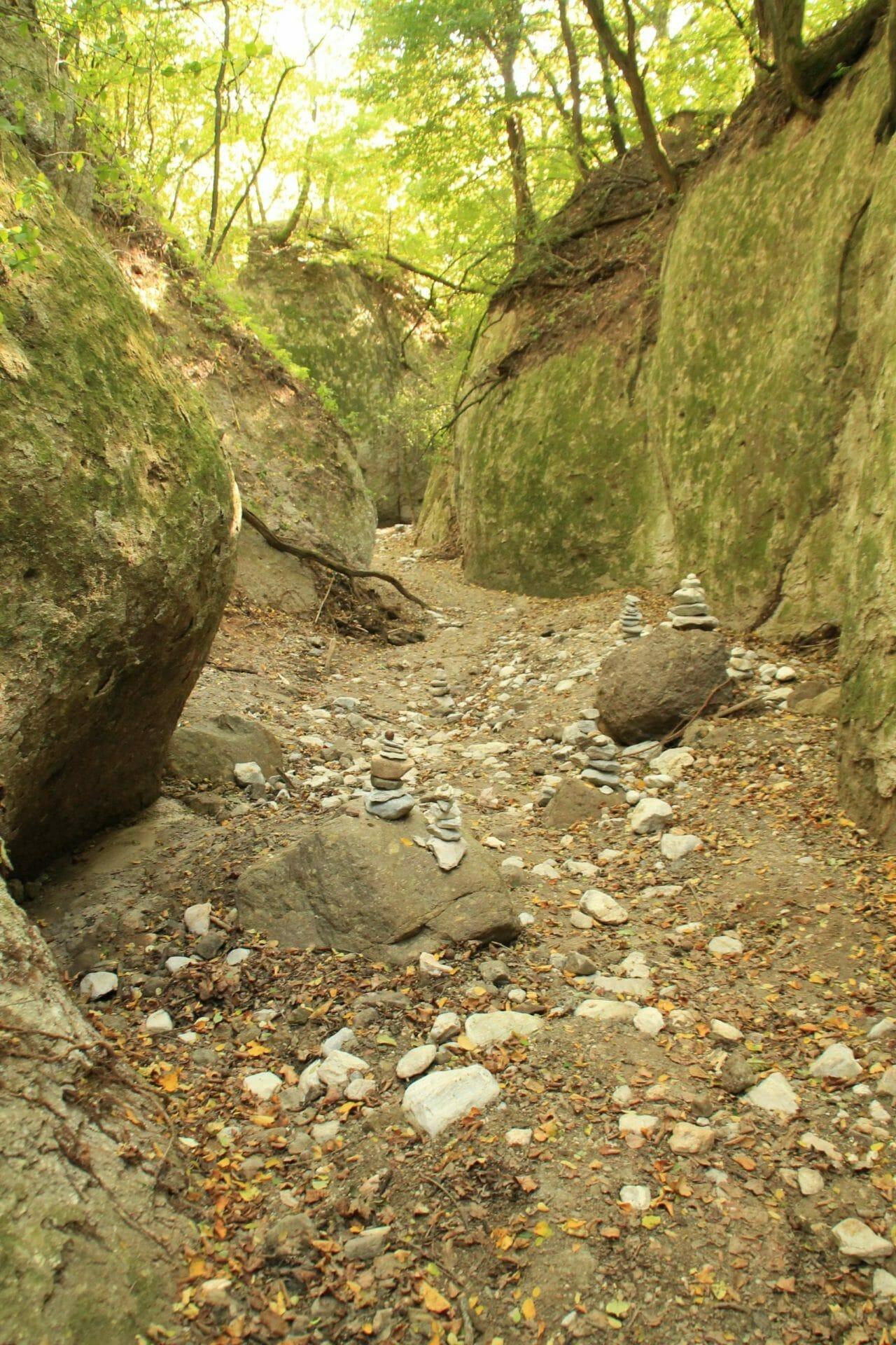 Kőporos szurdoktúra Cserépfalu határában