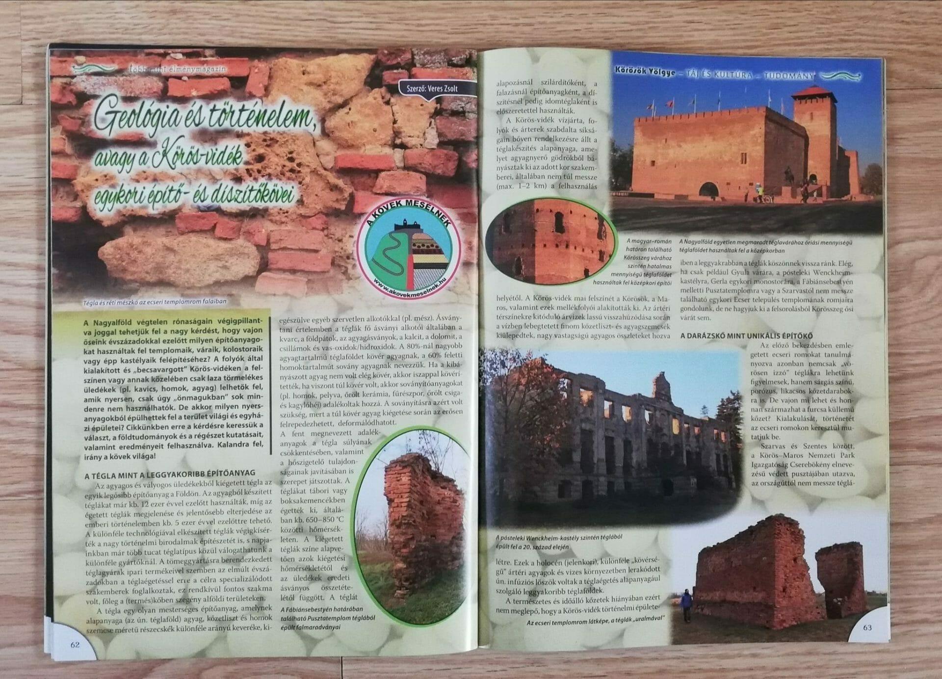 Köves élmények a Körösök Völgye magazinban