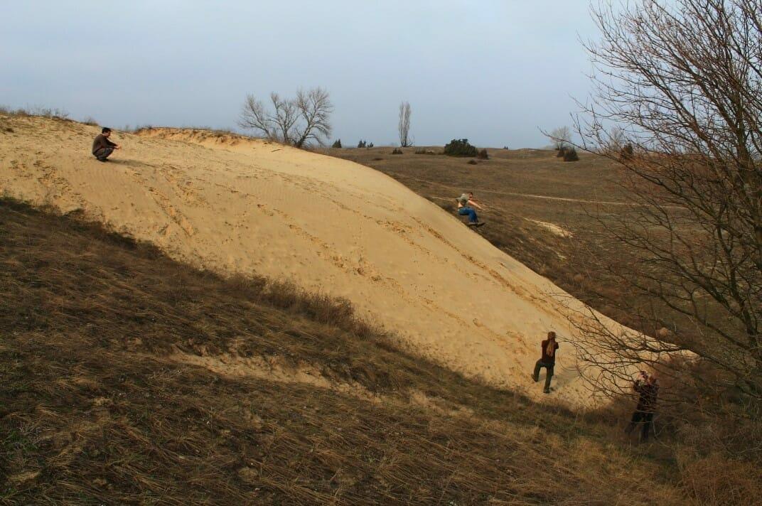 Mozgó homokbuckák Fülöpháza határában