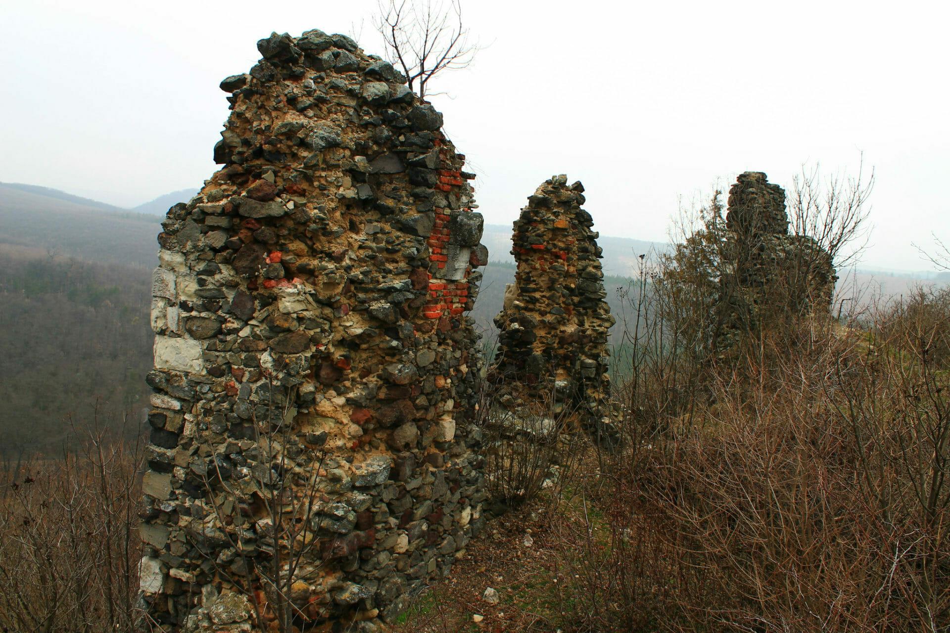 Buják várának beépített kövei